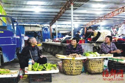 老人每到市场卖菜,大家都很乐意帮助她