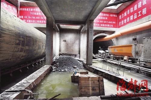 """白湖亭站至葫芦阵站""""双线开挖"""",右侧隧道下月就将贯通,左侧隧道盾构机也已组装完毕"""
