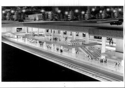 地铁车站顶板剖面图