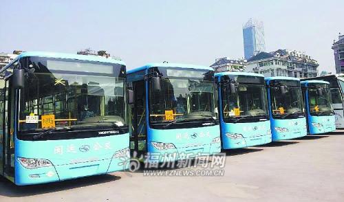福州公交现上百辆百万豪车