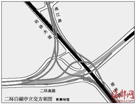 福州二环白湖亭立交近期动工 二环路将实现闭合