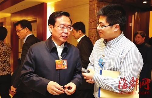 苏树林省长接受本报记者采访
