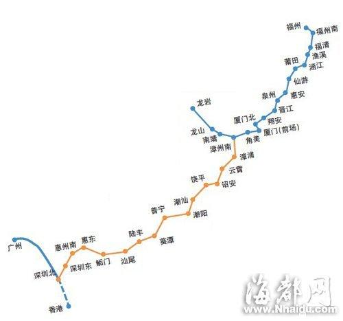 福州到深圳动车12月28日前通车