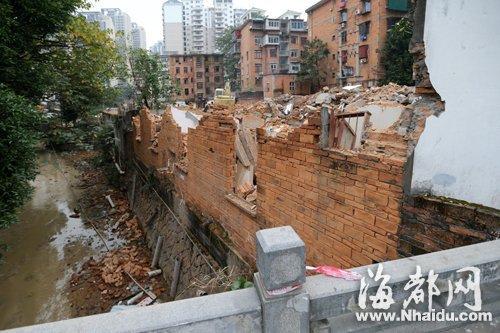 观风亭路沿线,拆迁工作正在紧张进行中