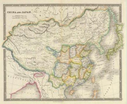 德国1735年绘制的中国地图