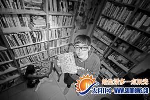 """高二学生蔡程方开办了公益图书馆""""美好生活图书馆"""""""