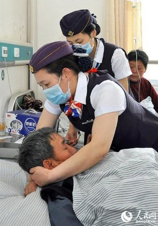 穿空姐制服的护士