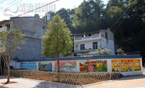 清流县嵩溪镇元山村:文明墙绘添色美丽乡村