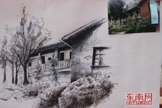 三明学院举行首届校园风景手绘大赛