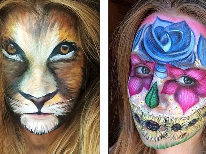 化妆师打造变脸装
