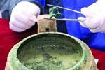 陕西战国青铜鼎内发现2千年前半锅狗肉汤