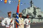 中国航母首航返港