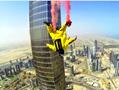 迪拜最高塔上跳伞
